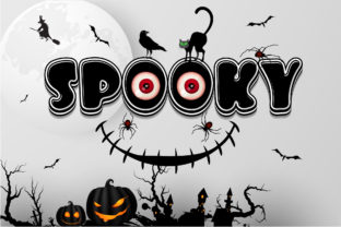 Print on Demand: Spooky Color Fonts Font By Nobu Collections 1