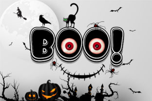 Print on Demand: Spooky Color Fonts Font By Nobu Collections 4