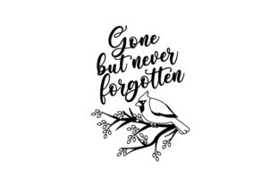 Gone but Never Forgotten Cardinal Bird Designs & Drawings Craft Cut File By Creative Fabrica Crafts 2
