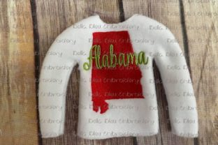 Alabama State North America Embroidery Design By Bella Bleu Embroidery