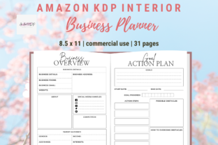 Print on Demand: Business Planner Bundle Small Business Graphic KDP Interiors By allaboutkdp
