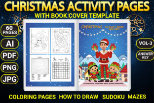 Print on Demand: Christmas Activity Pages with Book Cover Graphic KDP Interiors By Simran Store