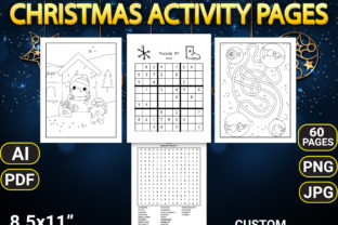 Print on Demand: Christmas Activity Pages with Book Cover Graphic KDP Interiors By Simran Store 2