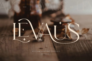 Print on Demand: Levaus Serif Font By Graphicxell 1