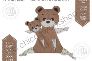 Teddy DouDou Teddy Bears Embroidery Design By CHICCAWORKSHOPSTORE
