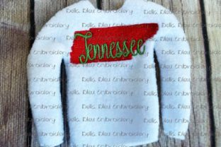 Tennessee State North America Embroidery Design By Bella Bleu Embroidery