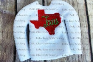 Texas State North America Embroidery Design By Bella Bleu Embroidery