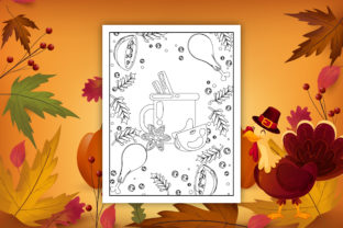 Thanksgiving Coloring Book and Interiors - 2