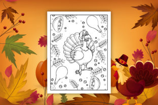 Thanksgiving Coloring Book and Interiors - 3