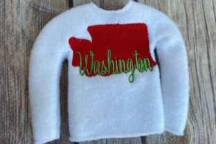 Washington State North America Embroidery Design By Bella Bleu Embroidery