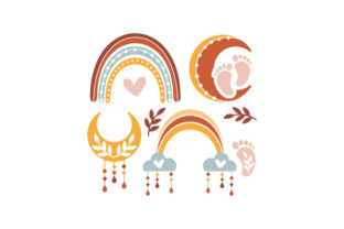Boho Baby Elements Baby Craft Cut File By Creative Fabrica Crafts 1