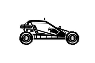 Off-road Racing Buggy in the Desert Cars Craft Cut File By Creative Fabrica Crafts