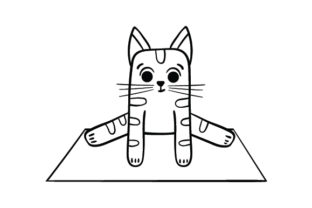 Cat in Frog Pose Line Art Cats Craft Cut File By Creative Fabrica Crafts