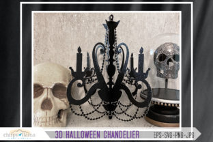 3D Halloween Chandelier Centerpiece Graphic 3D Shapes By chirpyllama