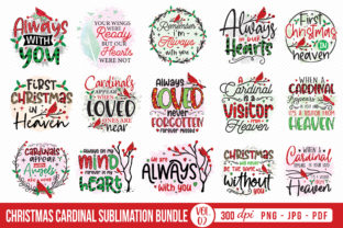 Christmas Cardinal Sublimation Bundle Graphic Crafts By CraftlabSVG
