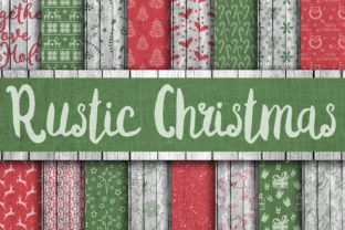 Print on Demand: Christmas Digital Paper Bundle Graphic Backgrounds By oldmarketdesigns 10
