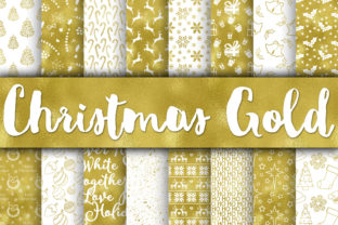 Print on Demand: Christmas Digital Paper Bundle Graphic Backgrounds By oldmarketdesigns 13
