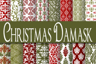 Print on Demand: Christmas Digital Paper Bundle Graphic Backgrounds By oldmarketdesigns 2