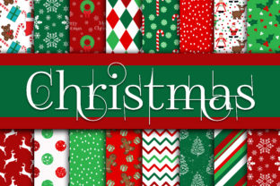 Print on Demand: Christmas Digital Paper Bundle Graphic Backgrounds By oldmarketdesigns 4