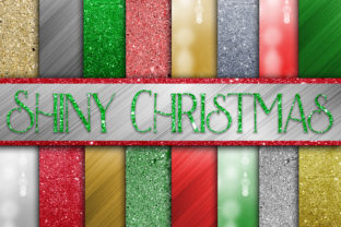 Print on Demand: Christmas Digital Paper Bundle Graphic Backgrounds By oldmarketdesigns 5