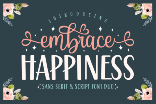 Print on Demand: Embrace Happiness Script & Handwritten Font By Jasm (7NTypes)