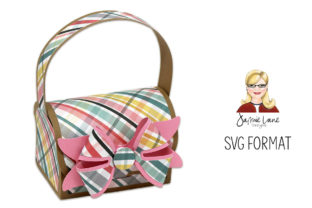 Gift Bag with 3D Paper Bow Graphic 3D SVG By Jamie Lane Designs