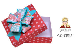 Gift Box with Bow Graphic 3D SVG By Jamie Lane Designs