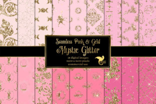 Print on Demand: Pink and Gold Mystic Glitter Textures Graphic Textures By Digital Curio