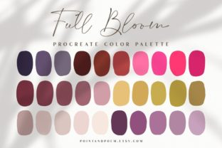 Procreate Color Palette   Full Bloom Graphic Add-ons By point