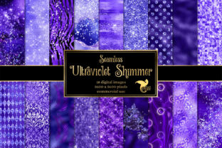 Print on Demand: Ultraviolet Shimmer Digital Paper Graphic Textures By Digital Curio