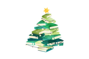 Christmas Book Tree Watercolor Christmas Craft Cut File By Creative Fabrica Crafts
