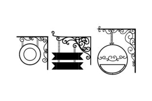 Vintage-style Sign Templates Designs & Drawings Craft Cut File By Creative Fabrica Crafts 2