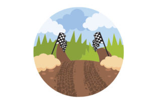 Off-road Racing Landscape Cars Craft Cut File By Creative Fabrica Crafts