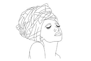 African Woman One Line Africa Embroidery Design By Canada Crafts Studio