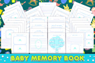 Print on Demand: Baby Memory Book - Editable Graphic KDP Interiors By okdecoconcept