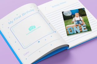 Print on Demand: Baby Memory Book - Editable Graphic KDP Interiors By okdecoconcept 10
