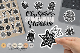 Christmas Scandinavian Stickers Graphic Objects By Happy Letters