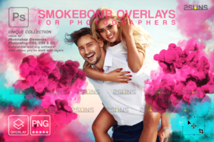 Gender Reveal Smoke Photoshop Overlay Graphic Actions & Presets By 2SUNS