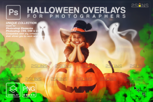Halloween Overlay, Ghost Overlay Graphic Actions & Presets By 2SUNS