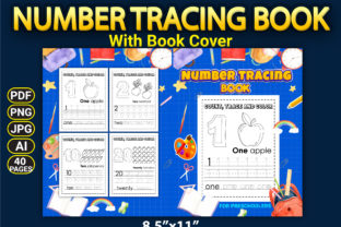 Print on Demand: Number Tracing Book with Book Cover Graphic KDP Interiors By Simran Store