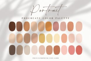 Procreate Color Palette   Portrait Graphic Add-ons By point