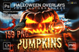 Pumpkins MEGA PACK 159 Halloween Overlay Graphic Actions & Presets By 2SUNS