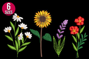 Print on Demand: Wildflowers Floral & Garden Embroidery Design By Nations Embroidery 2