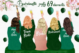 Print on Demand: Bridesmaid Robes Bridesmaid Sitting Graphic Illustrations By LeCoqDesign