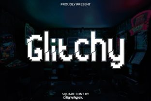 Print on Demand: Glitchy Display Font By CalligraphyFonts