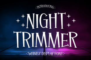 Print on Demand: Night Trimmer Display Font By Creative Fabrica Fonts