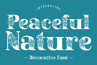 Print on Demand: Peaceful Nature Decorative Font By Creative Fabrica Fonts