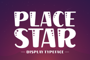 Print on Demand: Place Star Display Font By Creative Fabrica Fonts