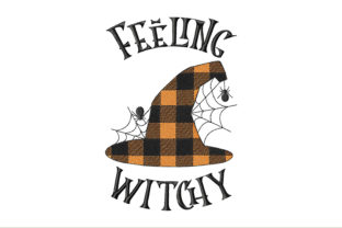 Plaid Witch Hat Feeling Witchy Halloween Embroidery Design By ArtDigitalEmbroidery