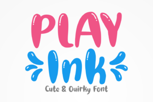 Print on Demand: Play Ink Display Font By Creative Fabrica Fonts 1
